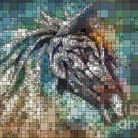 Horse Abstract Portrait - Photoart by Philip Preston
