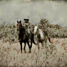 Horse Power Mustering With A Spare by Joan Stratton