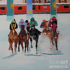Horse race in St. Moritz by Claudia Luethi alias Abdelghafar