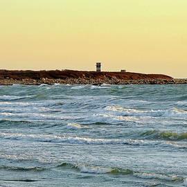 Horseneck Beach at sunset, Westport, MA by Lyuba Filatova