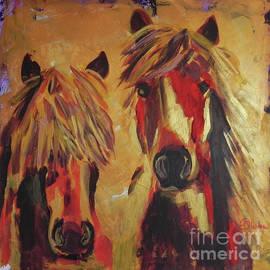 Horses In Gold by Jolanta Shiloni