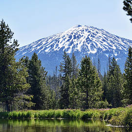 Hosmer Lake View of Mt. Bachelor by Dana Hardy