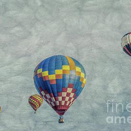 Hot Air Balloon, vintage  artwork by Helen Filatova