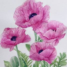 Hot Pink Poppies by Nicole Curreri