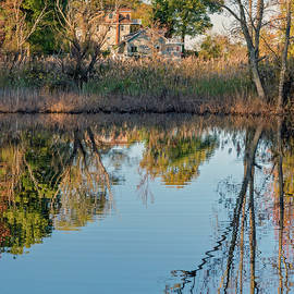 House And Pond Reflections by Brian Wallace