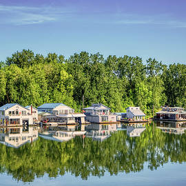 Houseboat Reflections by Loyd Towe Photography