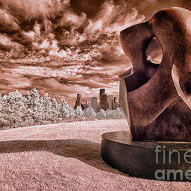 Houston and Large Spindle Piece in Infrared by Norman Gabitzsch