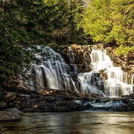 Houston Brook Falls in Spring by Jan Mulherin