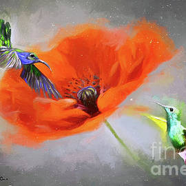 Hovering Around The Poppy by Tina LeCour