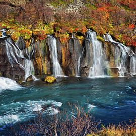Hraunfossar Falls by Jan Fijolek