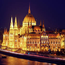 Hungarian Parliament, Budapest At Night by Douglas Taylor