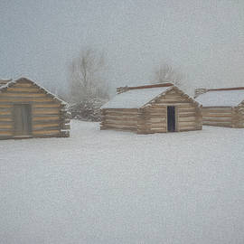 Huts In Winter by Jeff Oates Photography