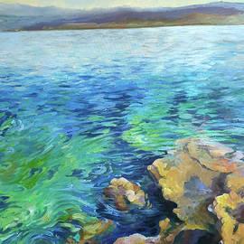 Hydra Greece Island painting by Vali Irina Ciobanu by Vali Irina Ciobanu