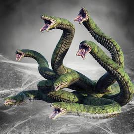 Hydra Snake Monster Fantasy 3 by Barroa Artworks