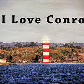 I Love Conroe Lighthouse by Judy Vincent