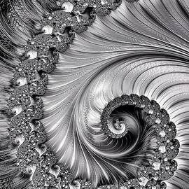 I Love Fractals Black And White by Mo Barton