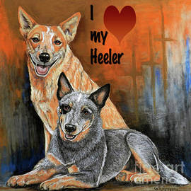 I love my Heeler1 by Cat Culpepper
