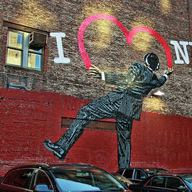 I Love New York Mural by Allen Beatty