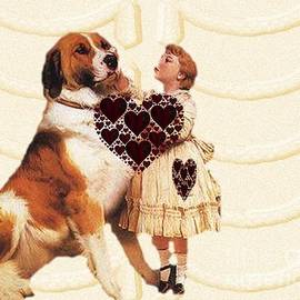 I Luv My Big St. Bernard by Belinda Threeths