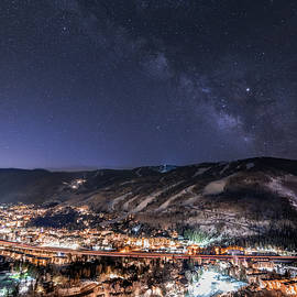 I70 Light Trails Through Vail Colorado by Ben Ford