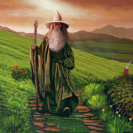 Ian Mc Kellen As Gandalf Painting by Paul Meijering