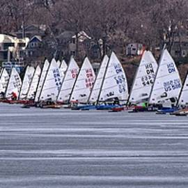 Ice boat Race, Madison, WI by Steven Ralser