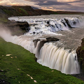 Iceland - Gullfoss waterfalls at sunset by Olivier Parent