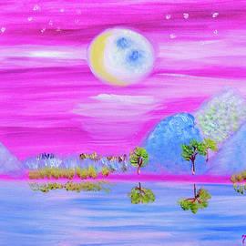 Icy Blue Moon Glow by Meryl Goudey