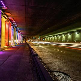 Ida B Wells light tunnel  by Sven Brogren