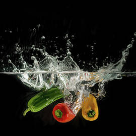 Immersed Peppers by Omid Gohardani