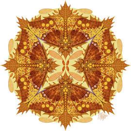 Imperial Moth #1 Nature Mandala by Tim Phelps