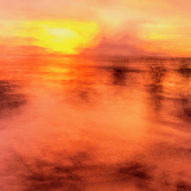 Impressionist Sunset Seascape by Lucy Brown