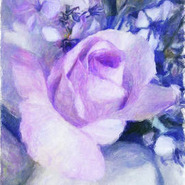 Impressionistic Rose Painting by Terry Davis