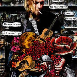 In Bloom - Kurt Cobain Nirvana Guitar Grunge Rock by Seruni Bodjawati