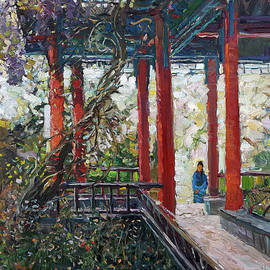 In the Chinese garden by Juliya Zhukova