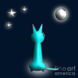 Cat In the Moonlight Zip Design by Barefoot Bodeez Art