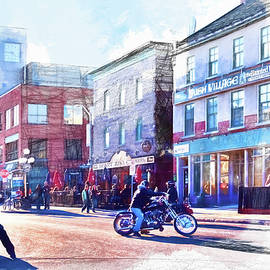 In the streets of Ottawa, Canada - Digital Painting by Tatiana Travelways