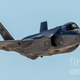 Incoming F-35a In The Blue Sky by Joe A Kunzler