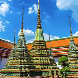 Incredible Stupas at Wat Pho by Brian Shaw