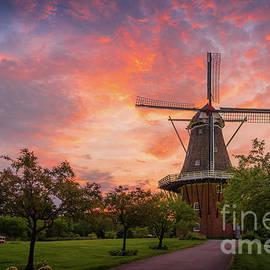 Incredible Sunrise at Windmill Island, Holland, Michigan by Liesl Walsh
