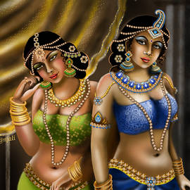 Beautiful  Indian queens  by Anjali Swami