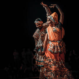 Indian Folklore, Ethnic Music and Dance Couple by Silvijo Selman