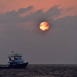 Indian Ocean Sunset by Neil R Finlay