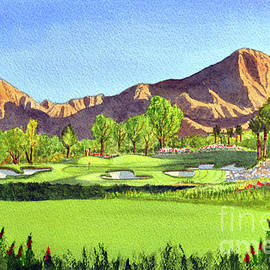 Indian Wells Golf Resort Celebrity Course 16th Hole by Bill Holkham