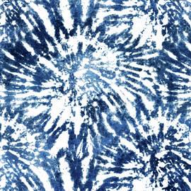 Indigo Tie Dye Pattern by Peggy Collins