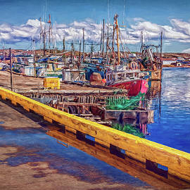 Industrial fishing in Newfoundland - Digital Painting by Tatiana Travelways