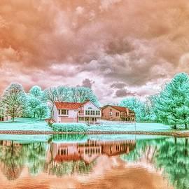 Infrared image of neighbors pond by Igor Aleynikov