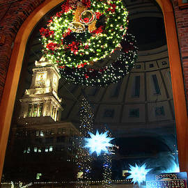 Inside Quincy Market - Boston MA by Joann Vitali