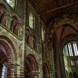 Interior of Mont Saint Michel, France by John Twynam