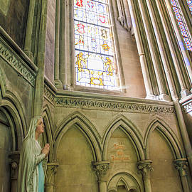 Interior View of the Bayeux Cathedral, France 2 by John Twynam